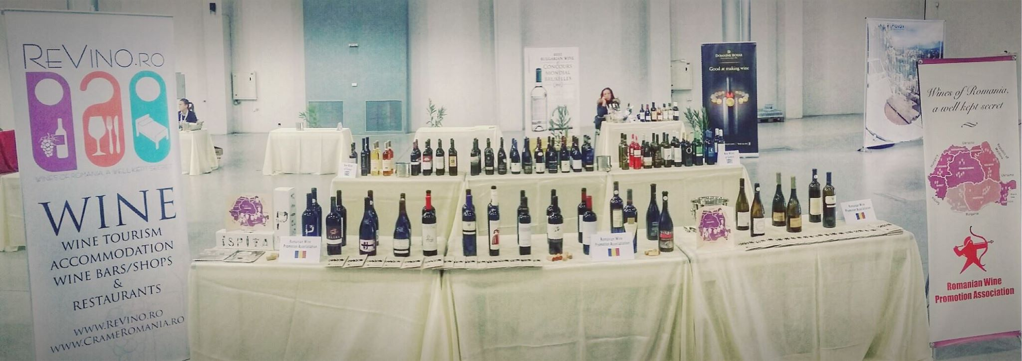 Romania's wine booth at the DWCC exhibition