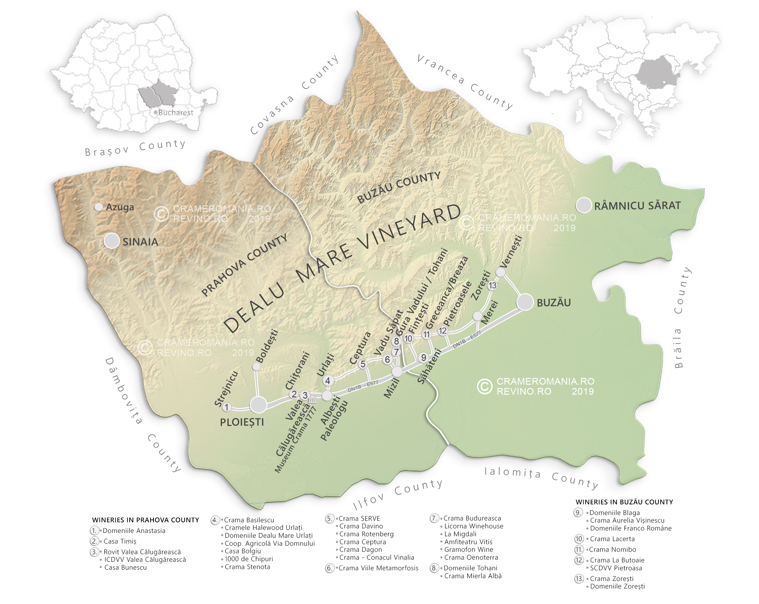 dealu mare wine map 2019