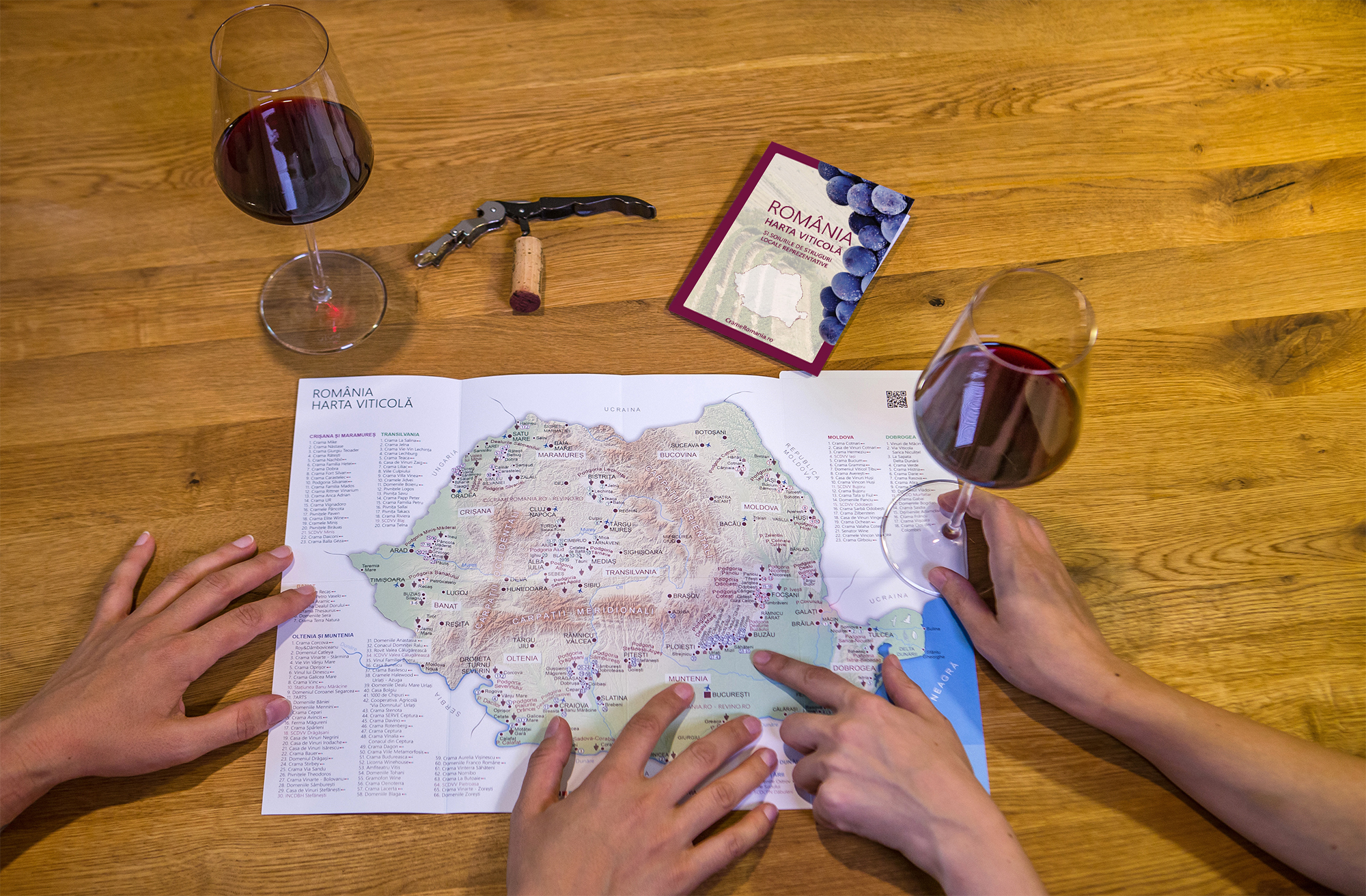 wine map romania