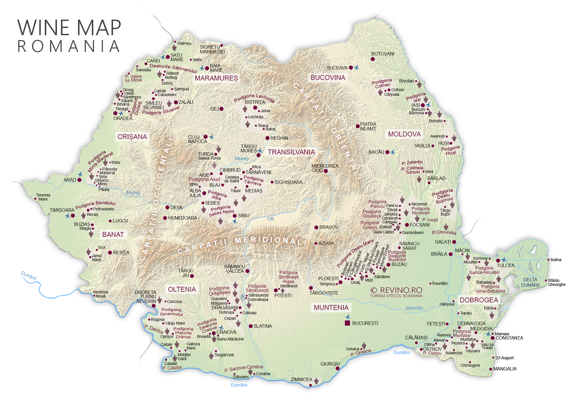 Wine Map Vineyards Romania 2017